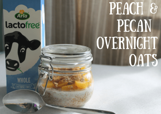 Peach &Pecan overnight oats