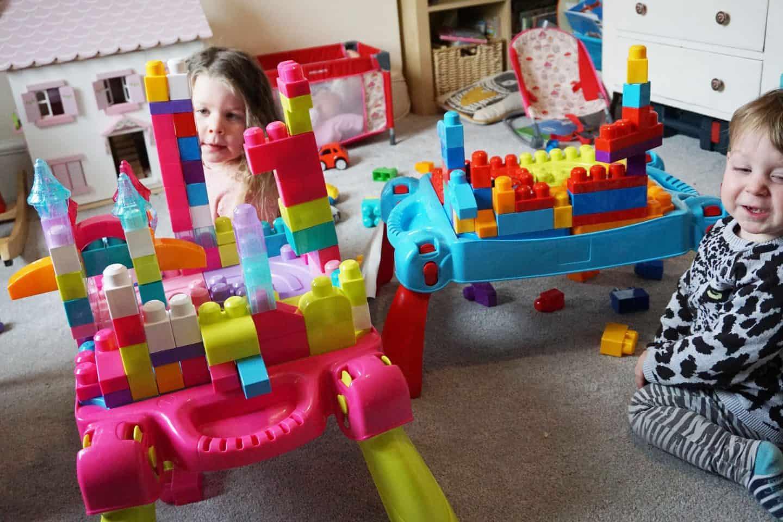 Mega Bloks build and learn table