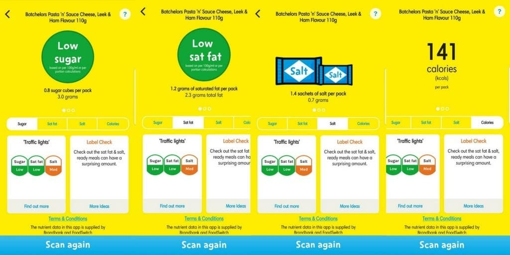 change4life food scanner